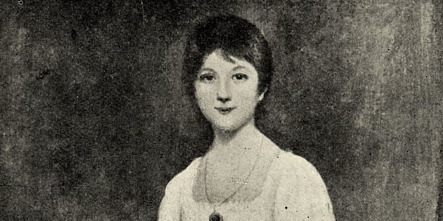 A portrait of a young -- and apparently prank-filled -- Jane Austen, from a painting by Johann Zoffany.