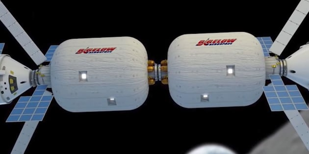 An illustration of an example of Bigelow Aerospaces expandable spacecraft