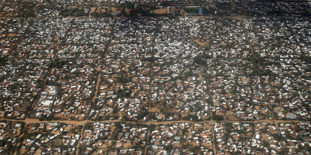 "An aerial picture shows a section of the Hagadera camp in Dadaab near the Kenya-Somalia border, May 8, 2015. Kenya's government threatened to close the Dadaab refugee camp, which with about 350,000 Somali refugees is the world's biggest refugee camp, as a security risk. The United Nations refugee agency urged Kenya to reconsider an order to close the teeming Dadaab refugee camp, warning that sending Somali refugees back to their homeland would have ""extreme humanitarian and practical consequences"". REUTERS/Thomas Mukoya      TPX IMAGES OF THE DAY"