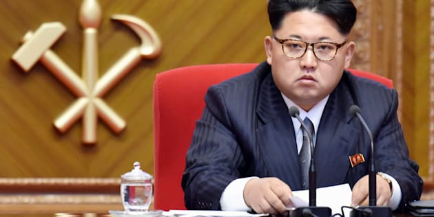 North Korean leader Kim Jong Un attends the first congress of the country's ruling Workers' Party in 36 years, in Pyongyang, North Korea, in this photo taken by Kyodo May 9, 2016. Mandatory credit Kyodo/via REUTERS   ATTENTION EDITORS - THIS IMAGE WAS PROVIDED BY A THIRD PARTY. EDITORIAL USE ONLY. MANDATORY CREDIT. JAPAN OUT. NO COMMERCIAL OR EDITORIAL SALES IN JAPAN.      TPX IMAGES OF THE DAY