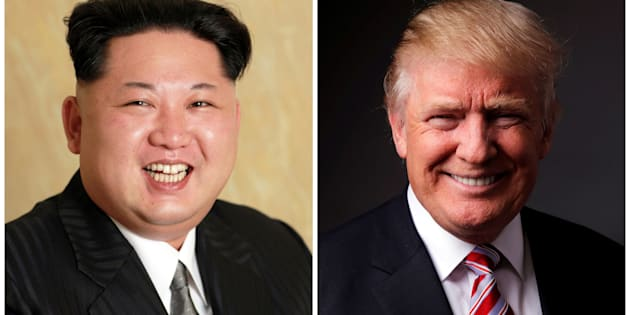 A combination photo shows a Korean Central News Agency (KCNA) handout of North Korean leader Kim Jong Un released on May 10, 2016, and Republican U.S. presidential candidate Donald Trump posing for a photo after an interview with Reuters in his office in Trump Tower, in the Manhattan borough of New York City, U.S., May 17, 2016. REUTERS/KCNA handout via Reuters/File Photo & REUTERS/Lucas Jackson/File PhotoATTENTION EDITORS - THE KCNA IMAGE WAS PROVIDED BY A THIRD PARTY. EDITORIAL USE ONLY. REUTERS IS UNABLE TO INDEPENDENTLY VERIFY THIS IMAGE. NO THIRD PARTY SALES. NOT FOR USE BY REUTERS THIRD PARTY DISTRIBUTORS. SOUTH KOREA OUT. NO COMMERCIAL OR EDITORIAL SALES IN SOUTH KOREA.     TPX IMAGES OF THE DAY