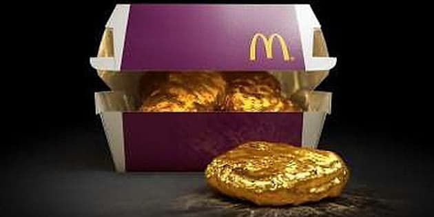 McDonald's Japan is hoping to spark a gold rush over their Chicken McNuggets by offering an 18-karat gold nugget.