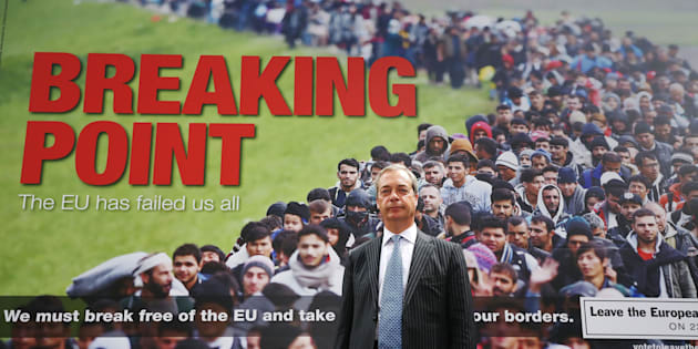 Nigel Farage with his infamous poster