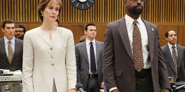 """Sarah Paulson and Sterling K. Brown in """"The People v. O.J. Simpson."""""""