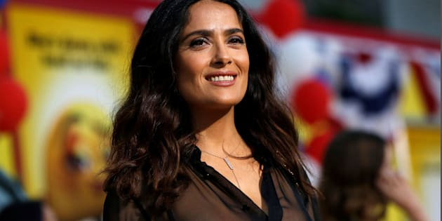 "Cast member Salma Hayek poses at the premiere for the movie ""Sausage Party"" in Los Angeles, California U.S., August 9, 2016.   REUTERS/Mario Anzuoni"