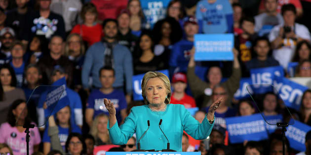 U.S. Democratic presidential nominee Hillary Clinton speaks during a campaign rally in Cleveland Ohio U.S., November 6, 2016. REUTERS/Carlos Barria