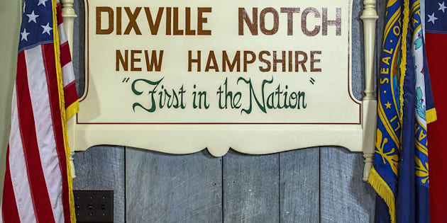 A sign at a polling station is pictured on November 5, 2012 in Dixville Notch, New hampshire,  where the first voting in the 2012 US presidential election begins at midnight on November 6, 2012. The final national polls showed an effective tie, with either US President Barack Obama  or Republican challenger Mitt Romney favored by a single point in most surveys, reflecting the polarized politics of a deeply divided nation.  AFP PHOTO / ROGERIO BARBOSA        (Photo credit should read ROGERIO BARBOSA/AFP/Getty Images)