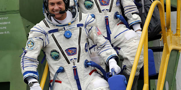 International Space Station crew member Shane Kimbrough, pictured, voted mid-orbit last week.