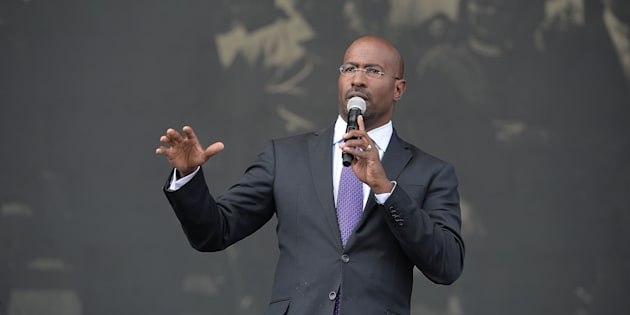 FAIRBURN, GA - OCTOBER 01:  Political activist/commentator Van Jones speaks onstage at 2016 Many Rivers to Cross Festival at Bouckaert Farm on October 1, 2016 in Fairburn, Georgia.  (Photo by Paras Griffin/Getty Images)