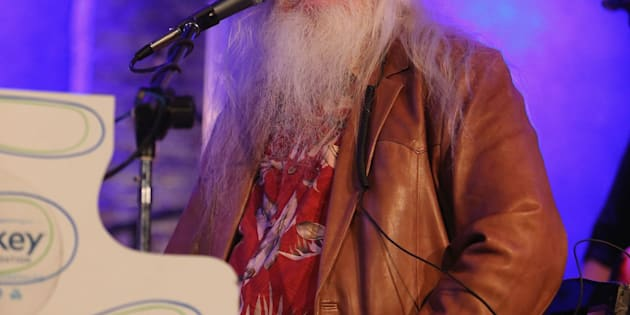 NEW YORK, NY - FEBRUARY 20:  Leon Russell performs at City Winery on February 20, 2015 in New York City.  (Photo by Al Pereira/WireImage)
