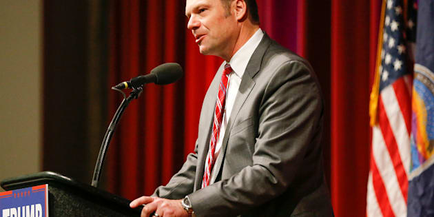 Kansas Secretary of State Kris Kobach, in a March 2016 file image, is joining the transition team for incoming President Donald Trump, saying on Thursday, Nov. 10, 2016, that he planned to help Trump reverse President Obama's immigration policies. (Fernando Salazar/Wichita Eagle/TNS via Getty Images)
