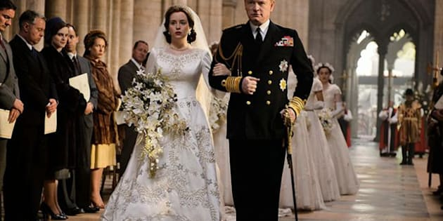 Claire Foy and Jared Harris star as Elizabeth and father King George VI in 'The Crown'
