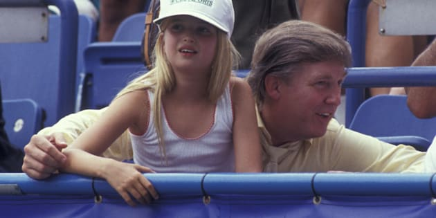 A young Ivanka Trump sits with her father back in 1991.