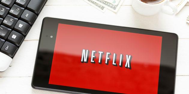 KIEV, UKRAINE - June 9: Netflix service logo on tablet, in Kiev, Ukraine, on June 9, 2014.