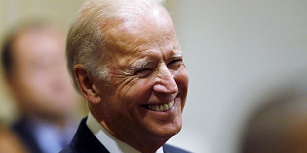 U.S. Vice President Joe Biden smiles as he is introduced to speak at a reception in honor of the 2015 USO Gala honorees at his residence at the Naval Observatory in Washington October 19, 2015. After months of speculation and deliberation,  a decision on a potential Biden presidential bid is reportedly coming within days, according to media reports Monday.   REUTERS/Jim Bourg