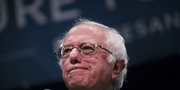 Senator Bernie Sanders, an independent from Vermont and 2016 Democratic presidential candidate, pauses as he speaks during a campaign event in New York, U.S., on Thursday, June 23, 2016. In the two weeks since Hillary Clinton wrapped up the Democratic presidential primary, runner-up Sanders has promised to work hard to defeat Donald Trump  but he's given no sign he'll soon embrace Clinton, his party's presumptive nominee. Photographer: John Taggart/Bloomberg via Getty Images