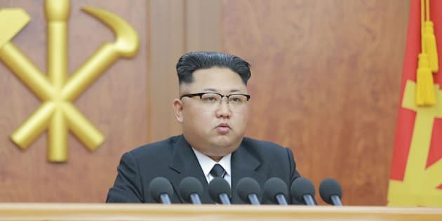 """Kim Jong Un delivered a New Year's address in Pyongyang, North Korea, on Sunday, during which he said the country was in the """"last stage"""" of developing an intercontinental ballistic missile."""