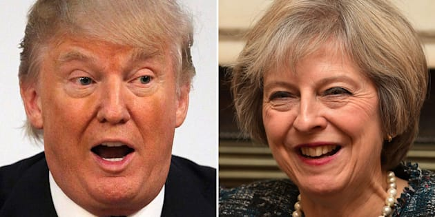 File photos of Donald Trump and Theresa May, as May has had her second phone conversation with Trump since his election as US president, agreeing that their national security advisers will meet in the US before the end of the year.