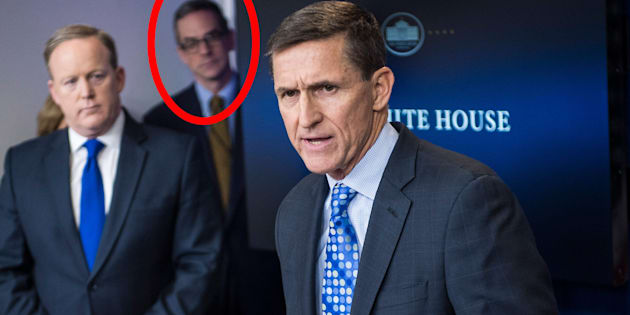 National Security Council staffer Michael Anton at a recent White House briefing.
