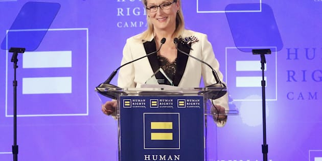 Meryl Streep attends the 2017 Human Rights Campaign Gala at The Waldorf Astoria in New York on Feb. 11.