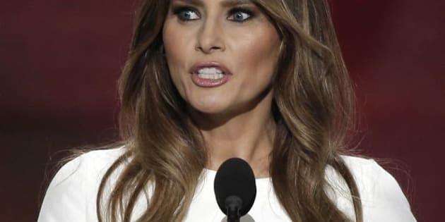 Melania Trump, wife of Republican U.S. presidential candidate Donald Trump, speaks at the Republican National Convention in Cleveland, Ohio, U.S. July 18, 2016.   REUTERS/Mike Segar
