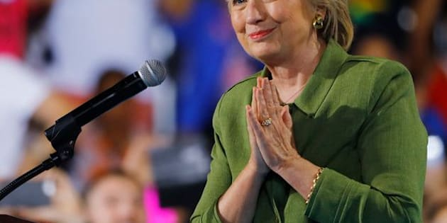 U.S. Democratic presidential candidate Hillary Clinton takes the stage at a campaign rally in Tampa, Florida, U.S. July 22, 2016. REUTERS/Scott Audette