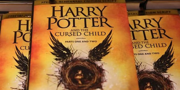 Copies of the book of the play of Harry Potter and the Cursed Child parts One and Two are displayed at a bookstore in London, Britain July 31, 2016. REUTERS/Neil Hall