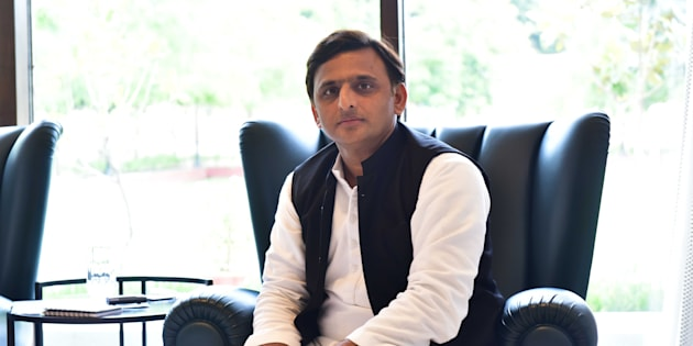 Image of Chief Minister of Uttar Pradesh Akhilesh Yadav during an exclusive interview with Hindustan Times at his Five Kalidas Government Residence, on September 18, 2016 in Lucknow, India.
