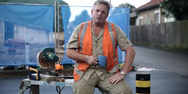 The tradie from the Liberals' new ad.