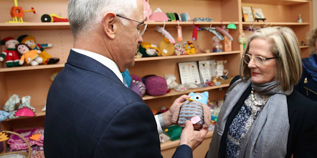 The PM's wife went missing in Adelaide and was found in a toy shop.
