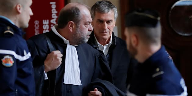 Jérôme Cahuzac et son avocat Me Eric Dupont-Moretti.
