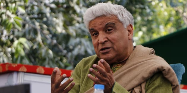 Indian Lyricist Javed Akhtar during the session at the 9th Edition of Jaipur Literature Festival at Diggi Palace in Jaipur ,23 Jan,2016.