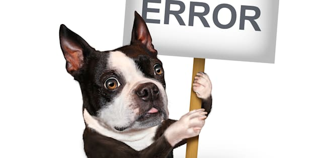 404 error page not found concept and a broken or dead link symbol as a dog emerging from a hole holding a sign with text for breaking the network connection resulting in internet search problems.