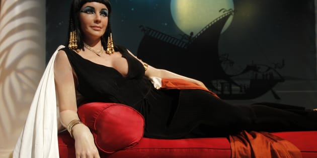 The wax figure of actress Elizabeth Taylor in her role as 'Cleopatra' is pictured at Madame Tussauds Hollywood in Hollywood, California.