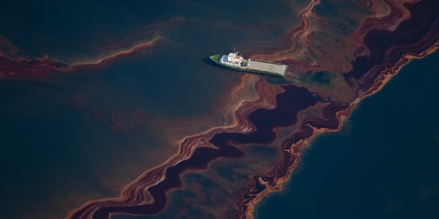 The BP leased oil platform exploded April 20 and sank after burning, leaking an estimate of more than 200,000 gallons of crude oil per day from the broken pipeline into the sea.