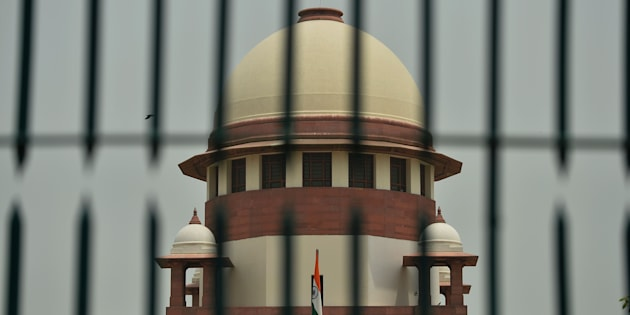 A view of India's Supreme Court building is seen in New Delhi on May 26, 2016.