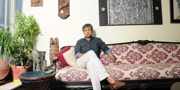 Amit Chaudhuri at his home on December 31, 2015 in Kolkata. (Photo by Indranil Bhoumik/Mint via Getty Images)