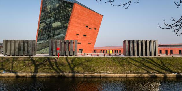 Le musée de la seconde guerre mondiale le 29 janvier 2017, à Gdansk, en Pologne. / AFP PHOTO / Wojtek RADWANSKI