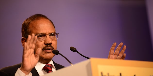 Ajit Doval is an Indian intelligence officer speaking at HT Leadership Summit on November 22, 2014 in New Delhi.