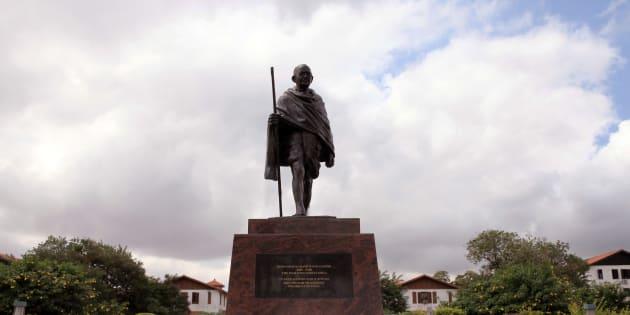 A statue of Mahatma  Gandhi in Accra, Ghana, Thursday, Sept. 22, 2016.