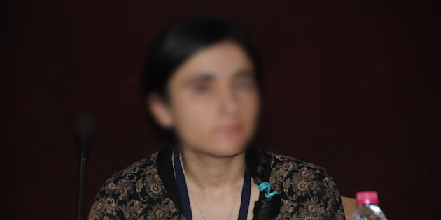 Aji(surname redacted),a young Yazidi woman, who was sold as a sex slave after being captured by the ISISwhen their village Kacho, in Iraq, fell to the marauding Da'esh fighters in 2014.