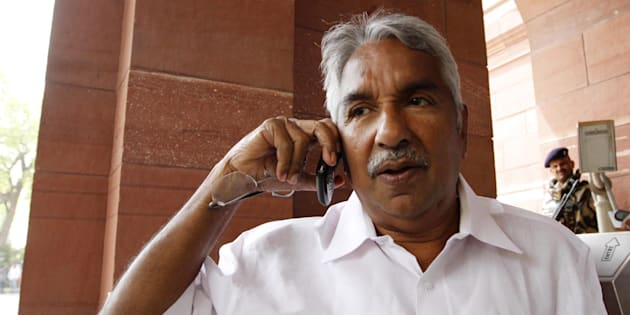 Kerala Chief Minister Oommen Chandy arrives at Parliament House to attend the Parliament budget session on March 26, 2012 in New Delhi, India.
