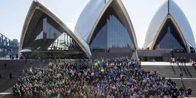 Fans of the augmented reality game battled it out in Sydney.