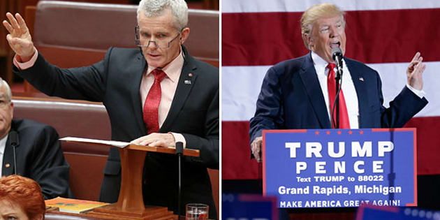 Malcolm Roberts agrees with Donald Trump.