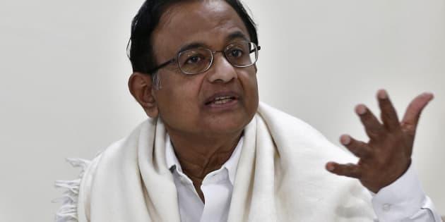 India's Former Finance Minister Palaniappan Chidambaram