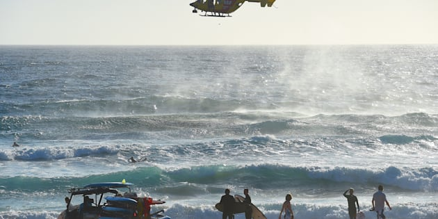 Surf lifesavers search for a boy who went missing at Maroubra Beach