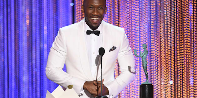 Actor Mahershala Ali accepts Outstanding Performance by a Male Actor in a Supporting Role for 'Moonlight' onstage during The 23rd Annual Screen Actors Guild Awards at The Shrine Auditorium on January 29, 2017 in Los Angeles, California.