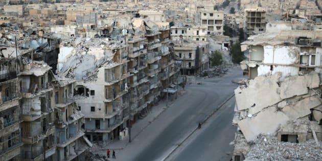 Une vue aérienne d'Alep le 5 octobre 2016