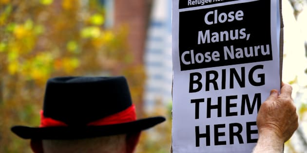 The most recent stages of protest against Australia's  offshore detention policy have taken place.