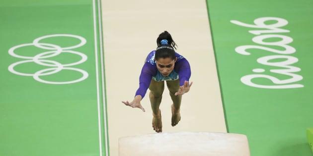 2016 Rio Olympics - Artistic Gymnastics - Final - Women's Vault Final - Rio Olympic Arena - Rio de Janeiro, Brazil - 14/08/2016. Dipa Karmakar (IND) of India competes in the women's vault final. REUTERS/Ruben Sprich